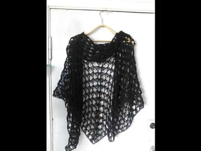 How to crochet triangle shawl