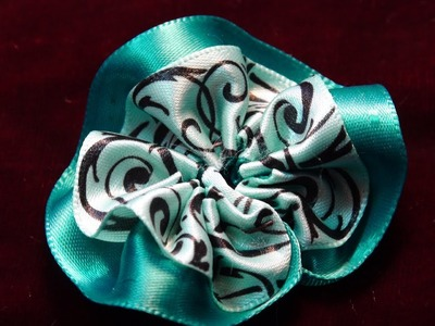 How To Make a Baby Ribbon Rosette With Two Ribbons