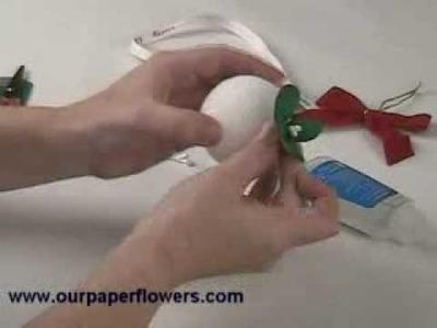 How to Make a Paper Flower Mistletoe Kissing Ball