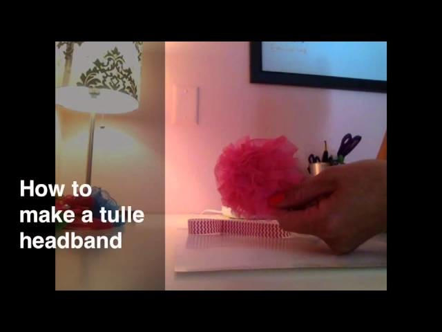 How To Make A Tulle Puff Baby Headband
