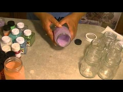How to make glittered mason jar solar lights