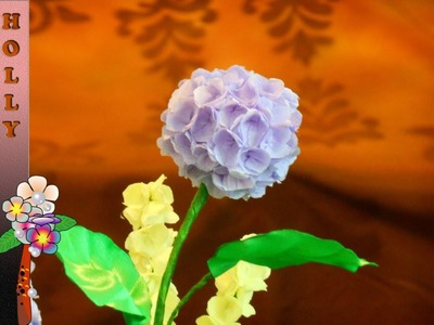 How to make tissue paper flowers  (hydrangea)