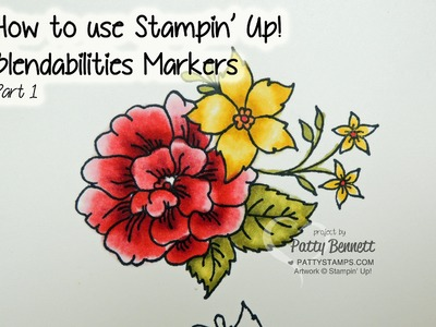How to use Blendabilities Markers from Stampin Up part 1