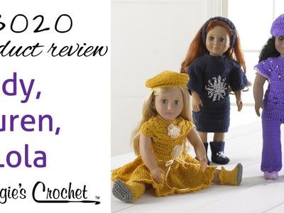 "Lindy, Lauren, and Lola 18"" Doll Crochet Pattern Set PB020 Review"