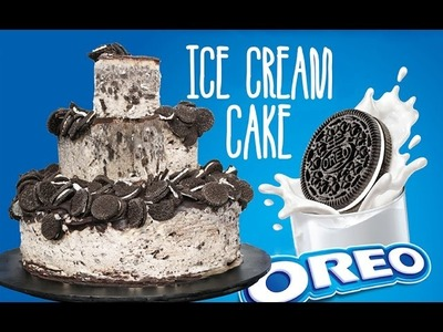 OREO Ice Cream Cake - 2 Tier Cookies & Cream Cake by Cupcake Addiction