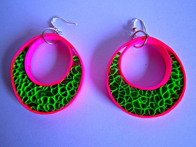 PAPER EARRINGS - Latest Fancy Home made Earrings Making Tutorial.