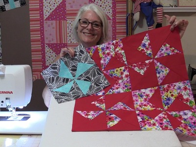 """Pinwheel Block for the """"Shades of Grey"""" Block of the Month"""