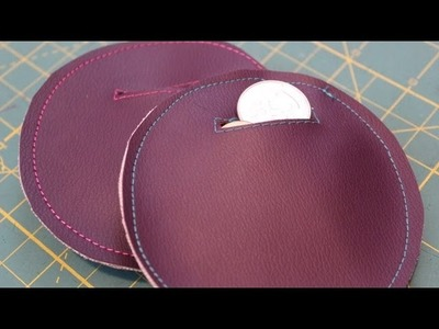 Pleather Coin Pouch DIY (Super Easy) - Whitney Sews