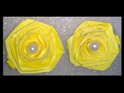 Quilling paper earrings making rose flower design earrings making methods