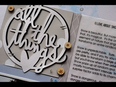 Scrapbook Process Video #11: All the things