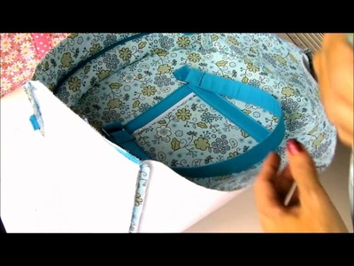 Sew a Carry-all Bag. Part 4, assembling the outer body of the bag