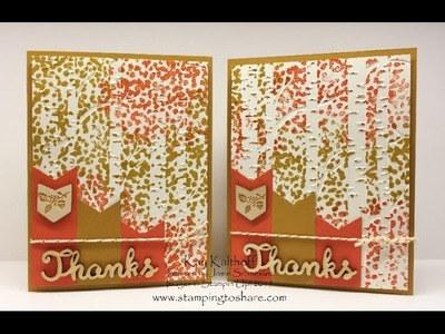 Stampin' Up! Sheltering Tree Over Woodland Embossing Folder