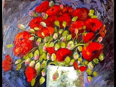 "Van Gogh ""Vase with Red Poppies"" part 2"