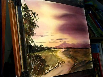 Watercolour Landscape Painting Tips feat Uphill, Somerset #3
