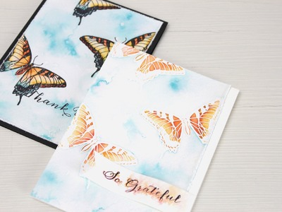 Wplus9 Design Clips: Distress Ink Watercolor Part 1