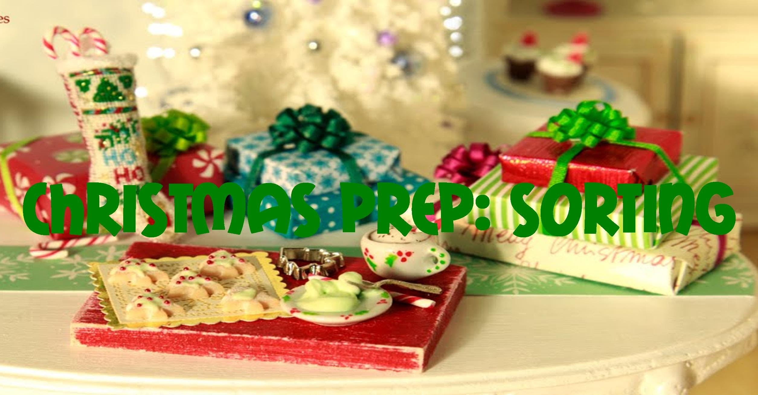 Christmas Prep: Sorting Decorations, Cards, and Gift Wrap