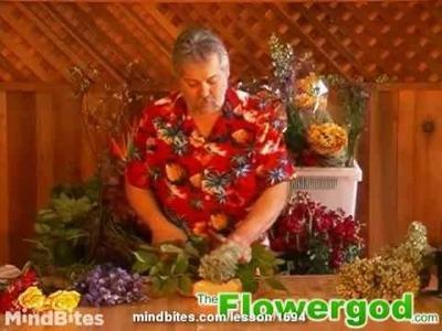 Flower Arrangement: How to Bundle Dellphinium into a Parallel Floral Design