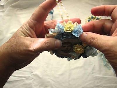 Handmade Christmas Ornaments using Tsunami Rose Designs printable paper