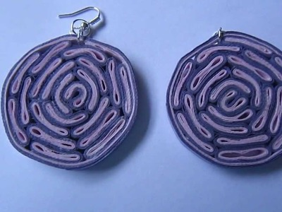 Handmade Jewelry - Paper Quilling Disk Earrings (Bacteria Style)