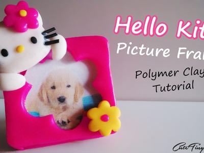 ✿Hello Kitty✿ Polymer Clay Tutorial ((MINI Picture Frame)) Mini Portafotos de Arcilla Polimérica