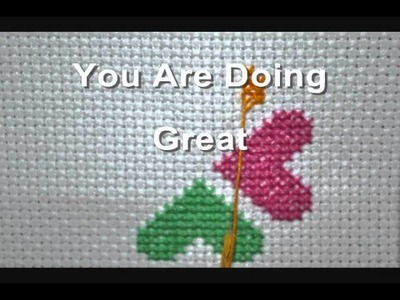 How To Line Up Your Stencil Cross Stitch Pattern