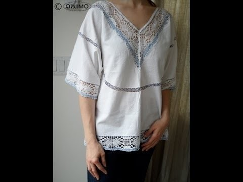 How to make a Hippie Blouse from a Table Cloth - OWIMO Design Upcycling