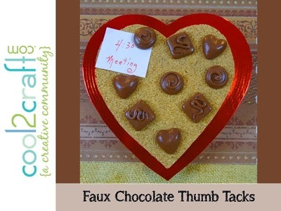 How to Make Faux Chocolate Polymer Clay Thumb Tacks by Candace Jedrowicz