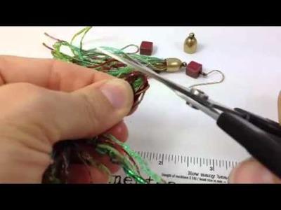 How To Make Fiber Tassel Earrings