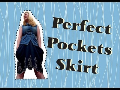 How to make The Perfect Pocket Skirt from a t-shirt