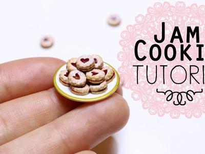 Linzer Jam Cookies. Miniature Polymer Clay Tutorial