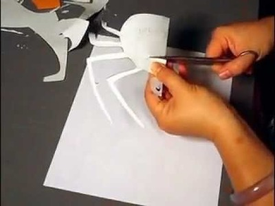 Paper Cutting How-To (8) How to cut a spider