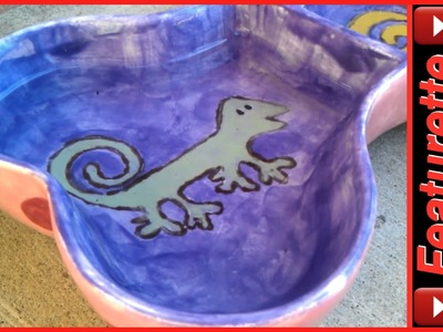 Personalized Ceramic Dog Bowls With Custom Hand-Painted Design For Pet Food & Water