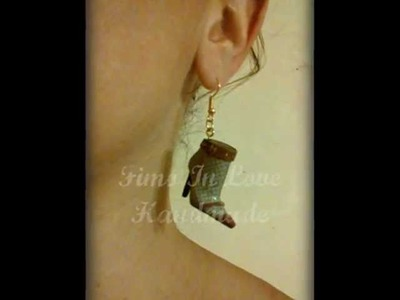 Polymer Clay Miniature Boots Jewelry