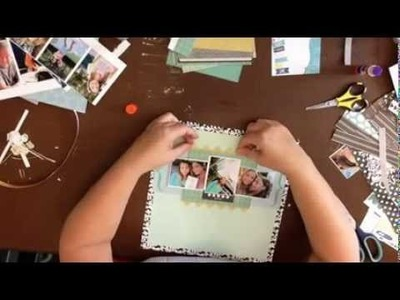 Scrapbook Process Video: Mamma Mia: Inspired by Shimelle.Glitter Girl #94. Day 17 of 30 Days
