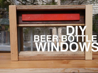 Beer Bottle Windows for your shed, club house, tree house, or cabin!?