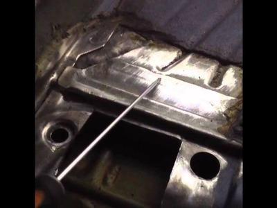 BMW E46 M3 rear floor subframe crack repair - part 3 of 3