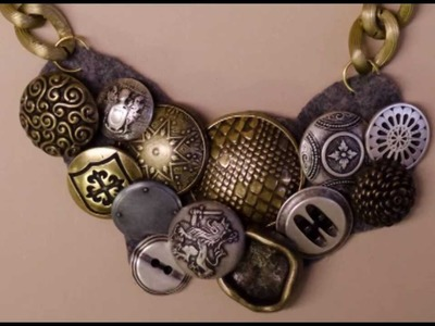 Button Necklace DIY