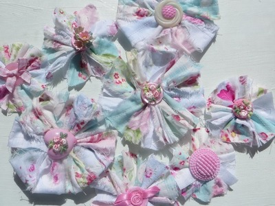 Chic and Cheap Shabby Scrappy Fabric Flowers