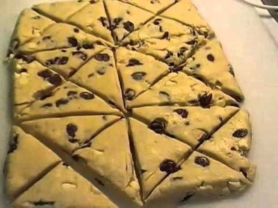 Cranberry White Chocolate Scones; A great Gift for the Neighbors!