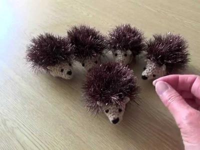 Crochet Amigurumi Baby Hedgehogs