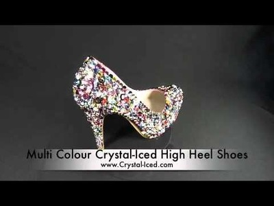 Crystal Iced High Heel Shoes - Inspired by Beyonce Telephone Video