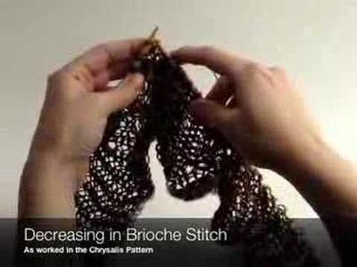 Decreasing in Brioche Stitch