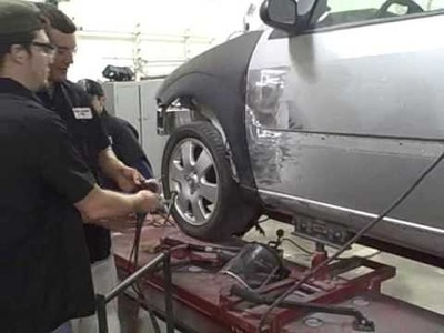 Dent Removal with a Reusable Electrode - (Collision Repair Training) - Dent Repair