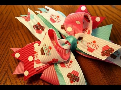 ~Design Idea~ Cupcake hairbow.Cupcake clip tutorial