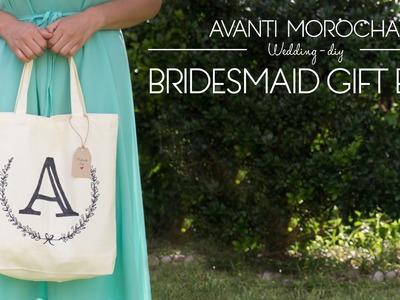 DIY Bridesmaid Gift Bag. Bolsa de Regalo para las damas de honor