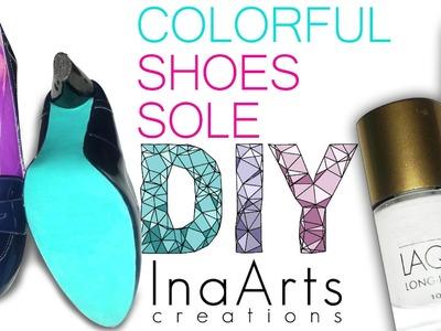 DIY COLORFUL SHOE SOLE. SUOLA RICOLORATA