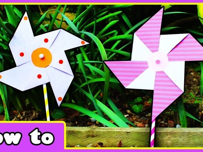 DIY Crafts | Paper Windmills | Toys for Kids by HooplaKidz How To