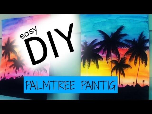 DIY: Easy Palmtree Painting