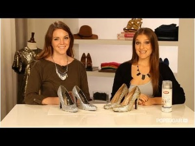 DIY Glitter Shoes Behind the Scenes!