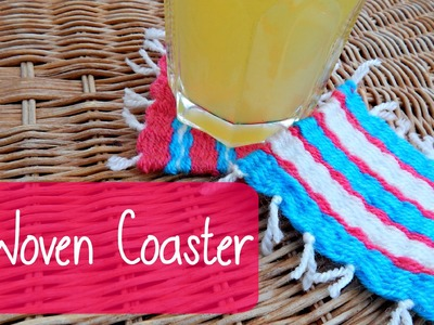 DIY Yarn Woven Coaster Pinterest Inspired! ¦ The Corner of Craft